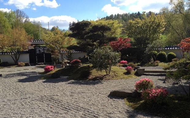 Japanischer Garten in Bielefeld im Frühling